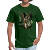 Deer with foliage Men's T-Shirt - forest green
