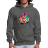 Lion with mane hoodie - Animal Face Hoodie - charcoal gray