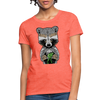 Racoon Women's T-Shirt - heather coral