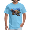 Sea Turtle T-Shirt - Animal Face T-Shirt - aquatic blue