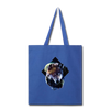 Wolf Tote Bag - royal blue