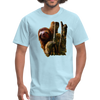 Sloth t-shirt - Animal Face T-Shirt - powder blue