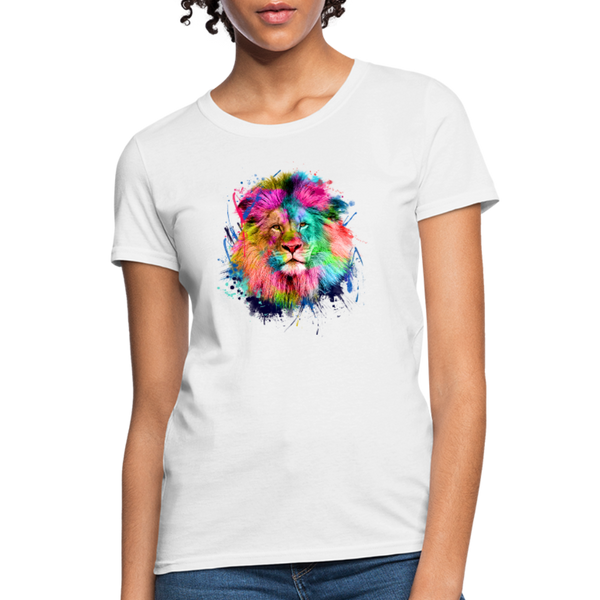 Lion with mane Women's T-Shirt - white
