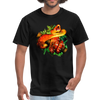 Striking tree snake t-shirt - Animal Face T-Shirt - black