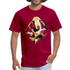 Goat t-shirt - Animal Face T-Shirt - dark red