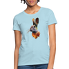Rabbit Women's T-Shirt - powder blue