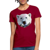 Polar bear Women's T-Shirt - dark red