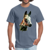 Donkey t-shirt - Animal Face T-Shirt - denim
