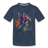 Flying Hummingbird Kid's Premium Organic T-Shirt - navy