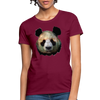 Panda Women's T-Shirt - burgundy