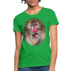 Mandrill Monkey Women's T-Shirt - bright green