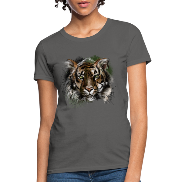 Tiger Women's T-Shirt - charcoal