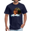 Grizzly eating t-shirt - Animal Face T-Shirt - navy