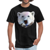 Polar bear t-shirt - Animal Face T-Shirt - black