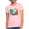 Fox with river Women's T-Shirt - pink