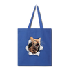 Cat with eyes Tote Bag - royal blue