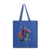Flying Hummingbird Tote Bag - royal blue