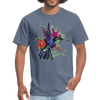 Flying Hummingbird Men's T-Shirt - denim
