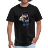 Young wolf standing T-Shirt - Animal Face T-Shirt - black