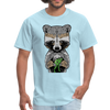 Racoon Men's T-Shirt - powder blue