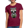Racoon Women's T-Shirt - burgundy