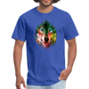 Colorful wolf t-shirt - royal blue
