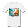 Fox Kid's Premium Organic T-Shirt - white