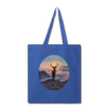 Deer with hazy sun Tote Bag - royal blue
