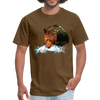 Grizzly eating t-shirt - Animal Face T-Shirt - brown