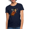 Giraffe Women's T-Shirt - navy