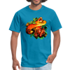 Striking tree snake t-shirt - Animal Face T-Shirt - turquoise