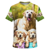 Labrador Retriever crew Unisex All over print t-shirt