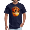 Golden Retriever Dog t-shirt - Animal Face T-Shirt - navy