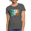 Fox with river Women's T-Shirt - charcoal