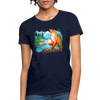 Fox with river Women's T-Shirt - navy