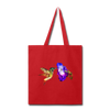 Hummingbird Tote Bag - red
