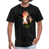 Holstein cow t-shirt - Animal Face T-Shirt - black