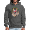 Mandrill Monkey Hoodie - charcoal gray