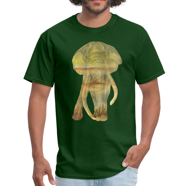 Bull Elephant Men's T-Shirt - forest green