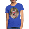 Mandrill Monkey Women's T-Shirt - royal blue