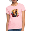 Praying Cat Women's T-Shirt - pink