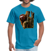 Sloth t-shirt - Animal Face T-Shirt - turquoise