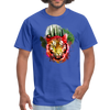 Watercolor tiger t-shirt - royal blue