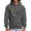 King Fisher Men's Hoodie - charcoal gray