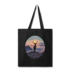 Deer with hazy sun Tote Bag - black