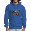 Sea turtle hoodie - Animal Face Hoodie - royal blue