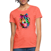 Watercolor wolf Women's T-Shirt - heather coral