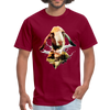 Goat t-shirt - Animal Face T-Shirt - burgundy