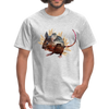 Mouse t-shirt - Animal Face T-Shirt - heather gray