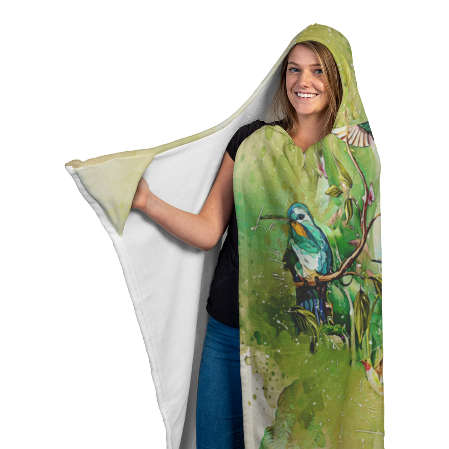 Hummingbird Hooded Blanket